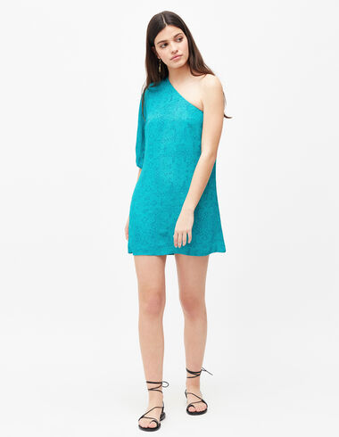 Women's blue asymmetric dress - Dresses - Nícoli
