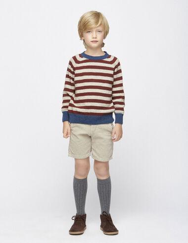 Beige corduroy chino shorts - View all > - Nícoli