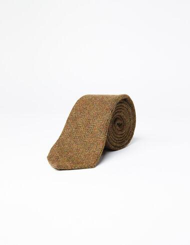 Brown herringbone tie  - View all > - Nícoli