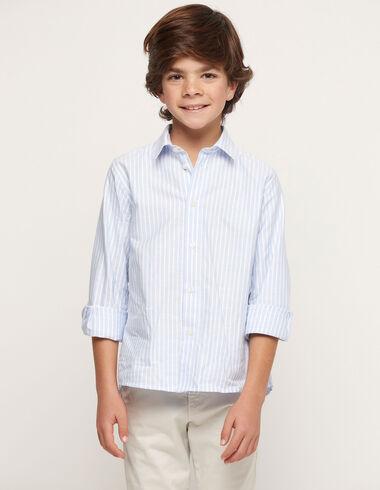 Chemise bleue rayures blanches - Voir tout > - Nícoli