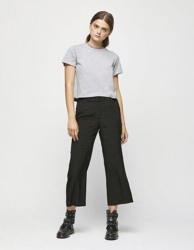 Pantalon jacquard noir - Voir tout > - Nícoli