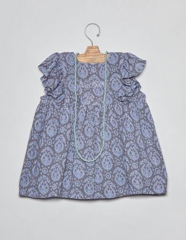 Robe paisley bleu à poches pour petites filles - Voir tout > - Nícoli