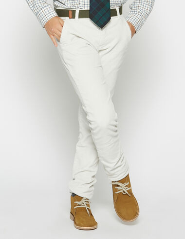 Boy's natural corduroy chinos - Trousers - Nícoli