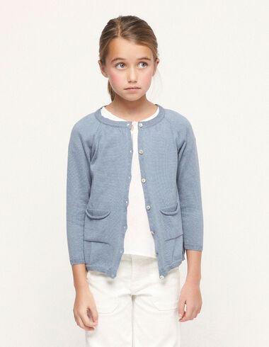 Blue jacket with buttons - View all > - Nícoli