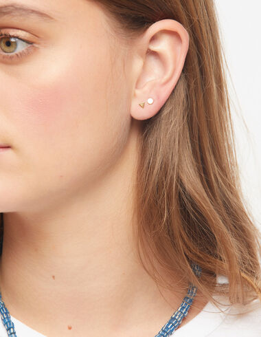 Triangle earrings in gold tone - View all > - Nícoli
