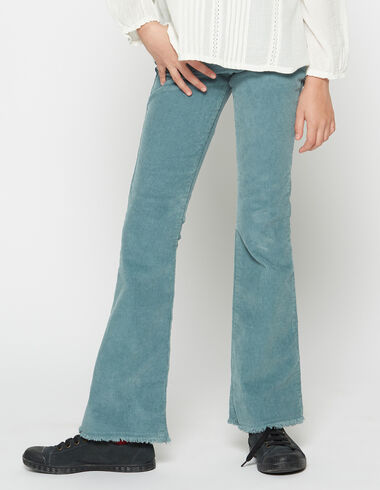 Girl's green corduroy flared trousers - View all > - Nícoli