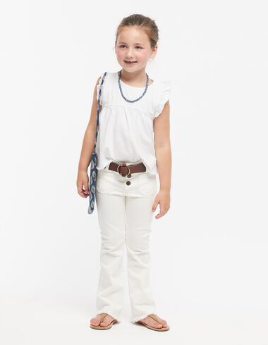 White flared trousers - Denim guide - Nícoli