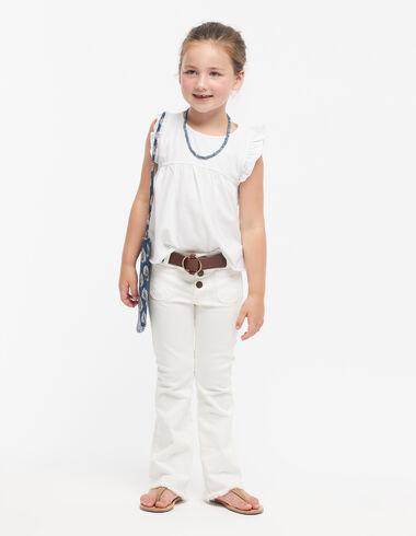 Pantalon évasé blanc - Denim guide - Nícoli