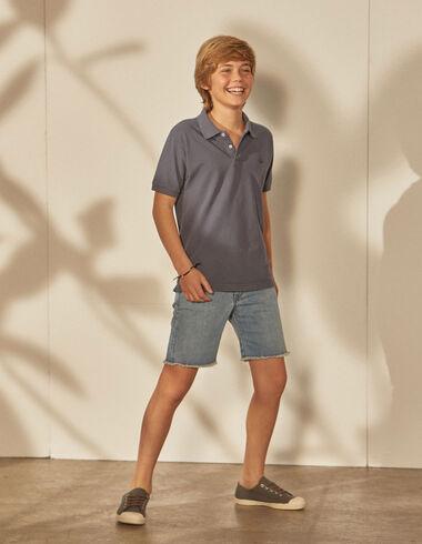Boy's indigo polo - Polos - Nícoli