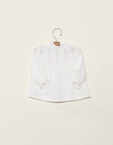 Off-white high neck lace blouse - Shirts - Nícoli
