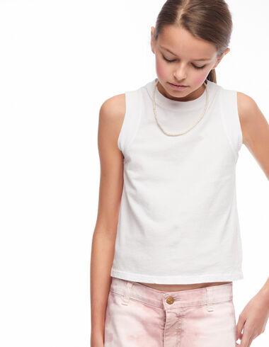 Camiseta vistas blanca - Pink & White - Nícoli