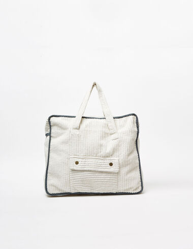 Off-white corduroy handbag - Bags - Nícoli