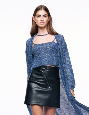 Black zip skirt - View all > - Nícoli