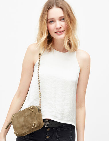 Women's off-white silk halter neck top - Shirts & Tops - Nícoli