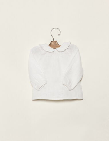 Off-white baby blouse - Shirts - Nícoli