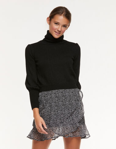 Pull manches bouffantes noir - Pulls et Sweatshirts - Nícoli