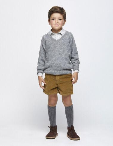 Nut corduroy chino shorts - View all > - Nícoli