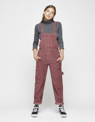 Strawberry corduroy dungarees - View all > - Nícoli