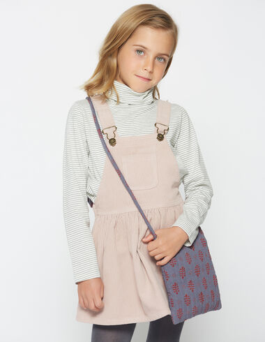 Girl's pink corduroy pinafore dress - Jumpers - Nícoli