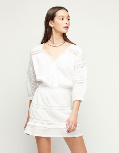 White lace dress - View all > - Nícoli