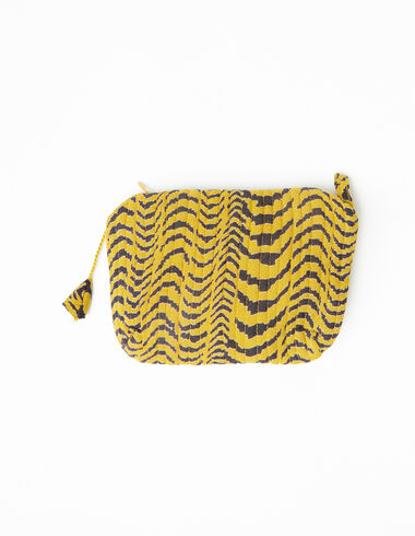 Mustard zebra print makeup bag - View all > - Nícoli