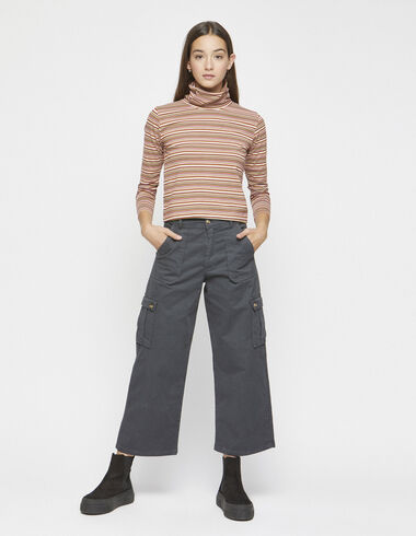 Anthracite cargo trousers - Trousers - Nícoli