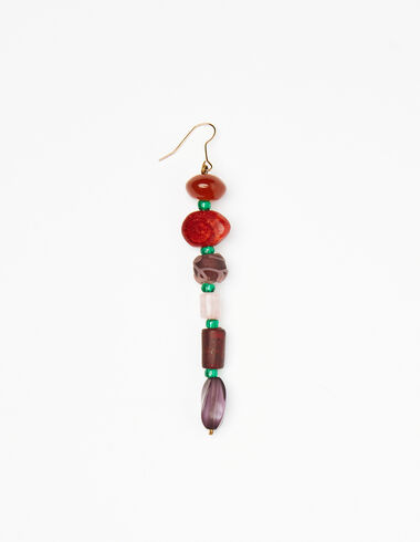 Orange; green and purple stones earring - Gift Ideas By Isabelle Dubrulle - Nícoli