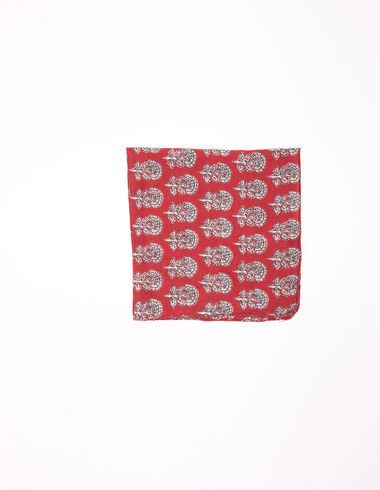 Terracotta floral buti scarf - View all > - Nícoli