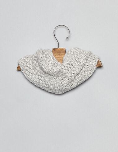 Cuello bufanda bebé punto gris - Complementos - Nícoli