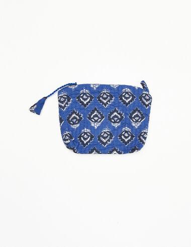 Porte-monnaie boutis bleu et anthracite - Porte-monnaie - Nícoli