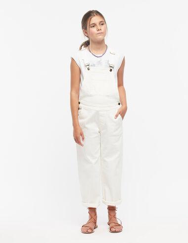 Salopette large blanche à poches - Voir tout > - Nícoli