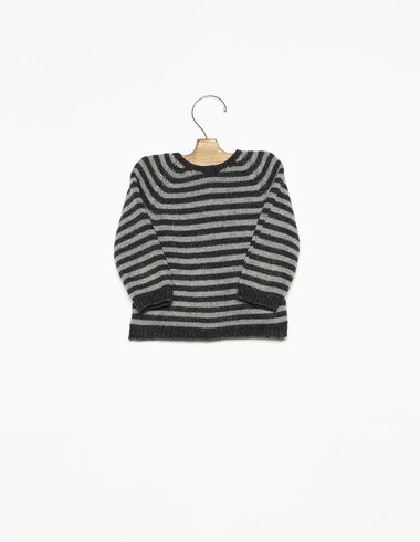 Grey and anthracite striped jumper - View all > - Nícoli