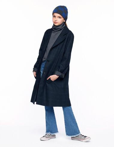 Manteau revers carreaux bleus - Voir tout > - Nícoli