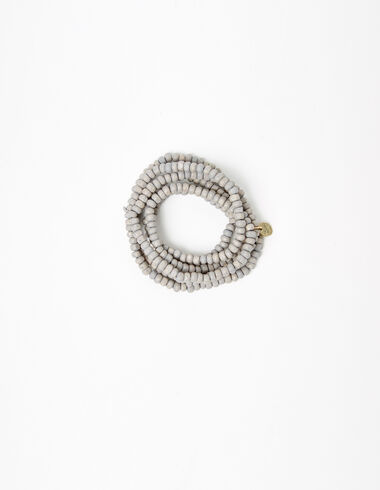 Taupe bead necklace - Necklaces - Nícoli