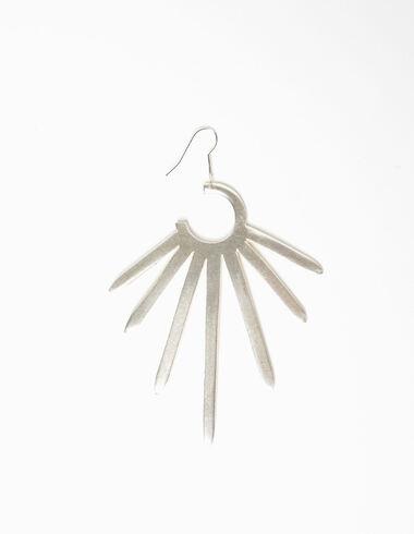 Large silver sun earrings - Earrings - Nícoli