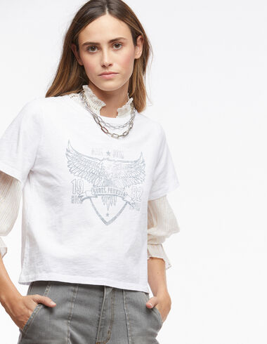 Tee-shirt solidaire blanc 'aigle' - Voir tout > - Nícoli