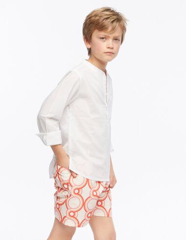 Strawberry geometric print swimsuit - Geometric Print - Nícoli