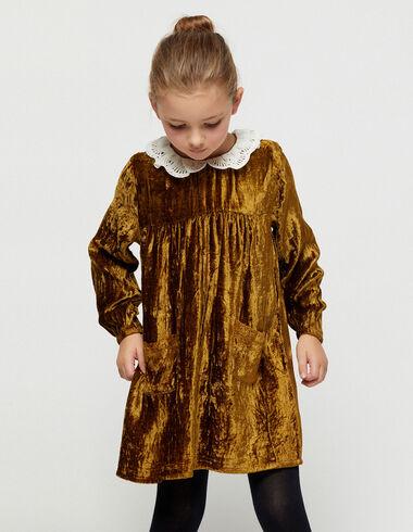 Nut velvet baby neck dress - View all > - Nícoli