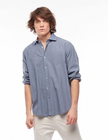 Blue V-neck shirt - View all > - Nícoli
