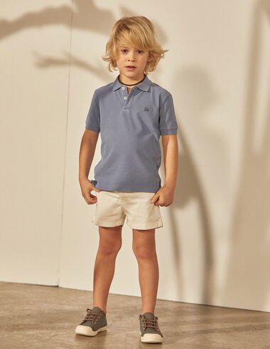 Boy's dark blue polo - Polos - Nícoli
