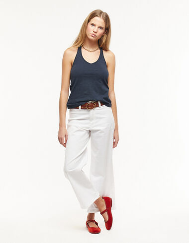White wide-leg shorts - Trousers - Nícoli