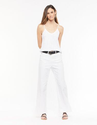 White wide-leg trousers - Denim - Nícoli