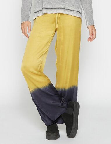 Pantalón chica abertura tie dye mostaza - Pantalones largos - Nícoli