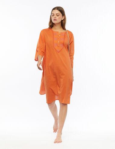 Kurta longue brodée orange - Voir tout > - Nícoli