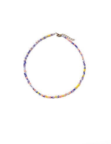 Collar bolitas multicolor rayas - Ver todo > - Nícoli