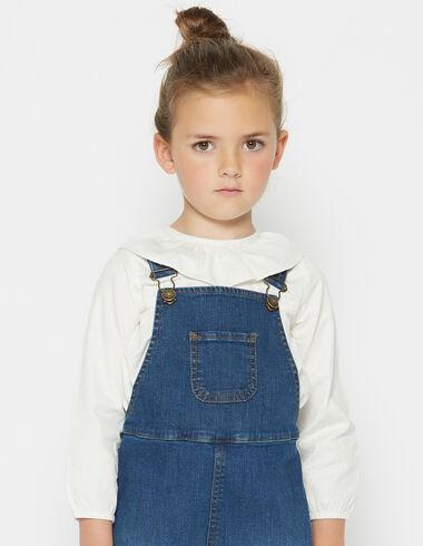 Chemise écrue à petits volants pour petites filles - Voit tout > - Nícoli