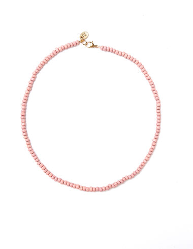 Pink beaded short necklace - View all > - Nícoli