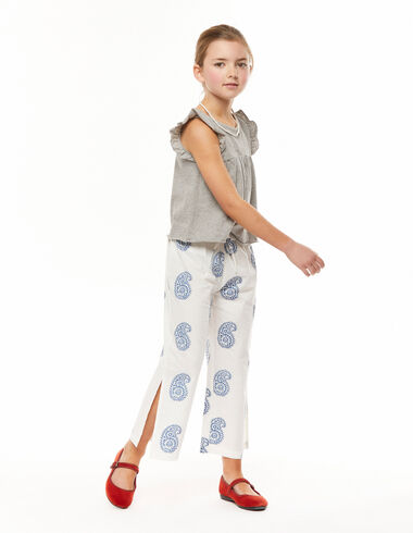 Large blue paisley trousers slits - View all > - Nícoli