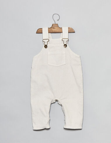 Natural corduroy baby dungarees - View all > - Nícoli