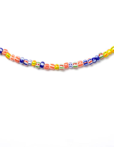 Striped multicolour bead necklace - STYLED BY ALMUDENA CAÑEDO - Nícoli